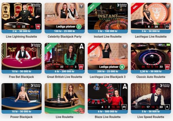 Casinospel i ett livecasino